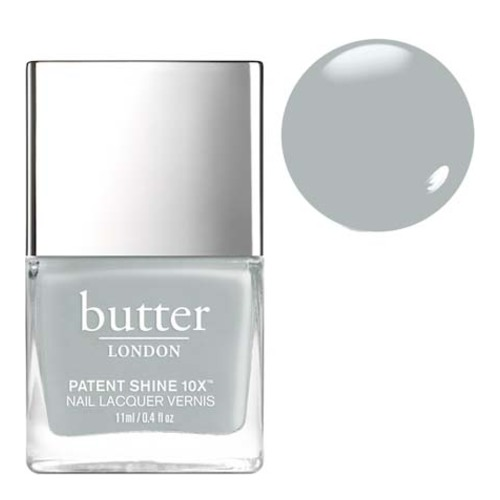 butter LONDON Patent Shine 10x - London Fog, 11ml/0.4 fl oz