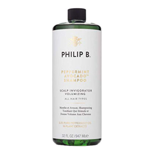Philip B Botanical Peppermint and Avocado Volumizing and Clarifying Shampoo, 947ml/32 fl oz