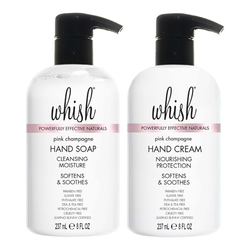 Whish Pink Champagne Sink Side Hand Set, 2 x 237ml/8 fl oz