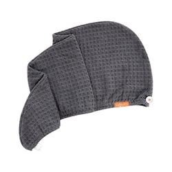 Rapid Dry Waffle Hair Turban - Moody Grey