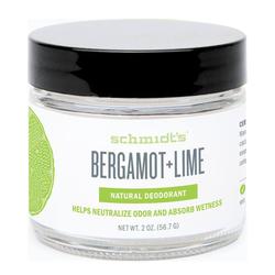 Schmidts Natural Deodorant Jar - Bergamot + Lime, 56.7g/2 oz