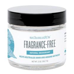 Schmidts Natural Deodorant Jar - Fragrance Free, 56.7g/2 oz