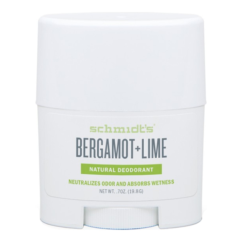 Schmidts Natural Deodorant Stick (Travel Size) - Bergamot + Lime, 19.8g/0.7 oz