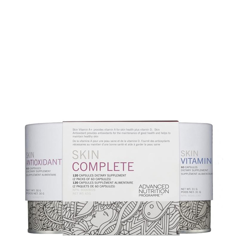 Advanced Nutrition Programme Skin Complete (Skin Vit A + and Skin Antioxidant) | 60 Caps Each, 120 capsules