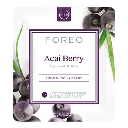 FOREO UFO Activated Mask, Farm-to-Face Collection - Acai Berry, 6 sheets
