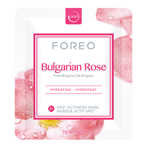 FOREO UFO Activated Mask, Farm-to-Face Collection - Bulgarian Rose, 6 sheets