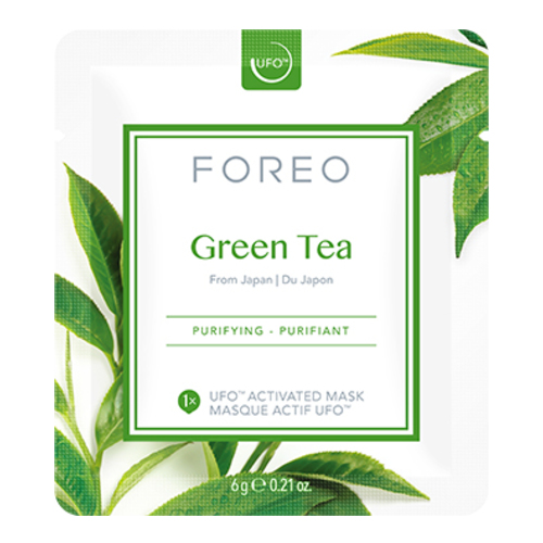FOREO UFO Activated Mask, Farm-to-Face Collection - Green Tea, 6 sheets