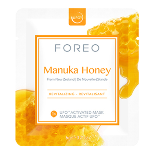 FOREO UFO Activated Mask, Farm-to-Face Collection - Manuka Honey, 6 sheets