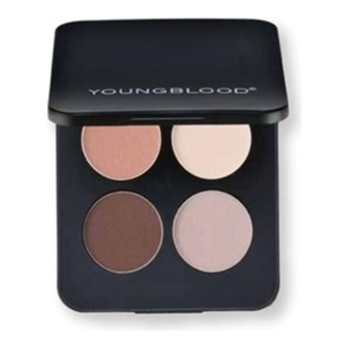 Youngblood Pressed Mineral Eyeshadow Quad - City Chic, 4g/0.14 oz