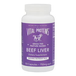 Vital Proteins Beef Liver, 120 x 750mg/11.3 grain