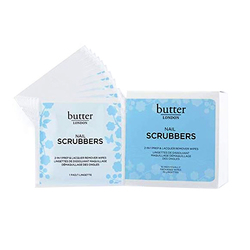 butter LONDON Nail Scrubbers 2-in-1 Prep And Lacquer Remover, 10 wipes