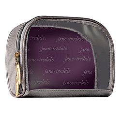 jane iredale Clearview Cosmetic Bag - Graphite, 1 piece