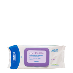 Mustela Dermo-Soothing Wipes (Fragrance Free), 70 wipes
