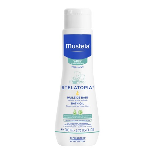 Mustela Stelatopia Bath Oil 200 ml, 200ml/6.8 fl oz