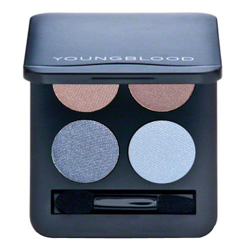 Youngblood Pressed Mineral Eyeshadow Quad - Glamour-Eyes, 4g/0.14 oz